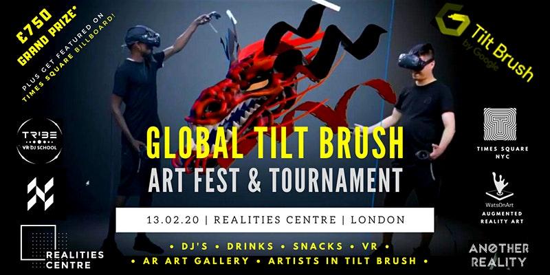 Concurso VR y Festival 2020 por Tilt Brush con arte AR & DJ's