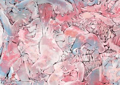 Pink Nude Implosion Josie Watson Arte