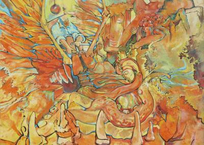 La naranja mecanica Implosion Josie Watson Arte