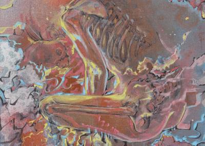 Esqueleto Implosion Josie Watson Arte