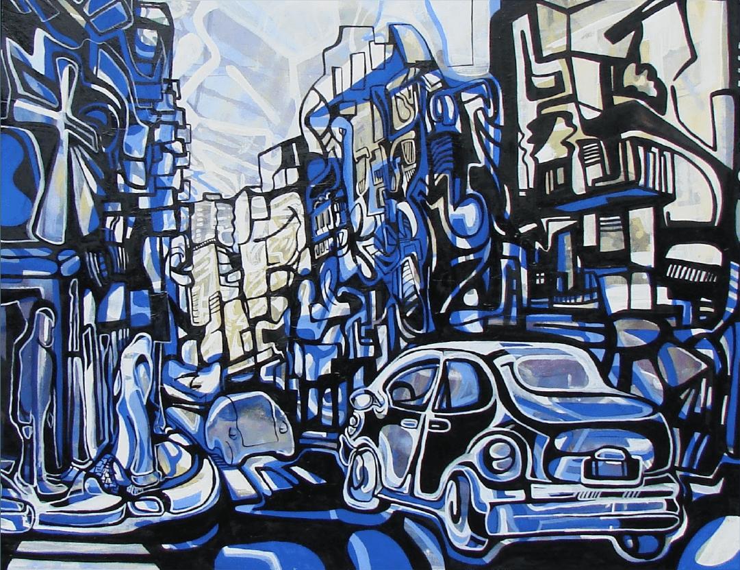Taxi lego Buenos Aires WatsOnArt Josie Watson Arte