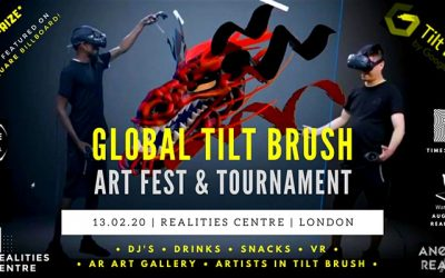 2020 VR Tilt Brush Art Fest & Tournament with AR Art & DJ's